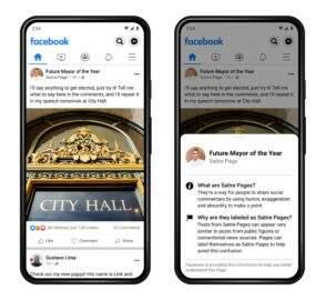 Facebook vai por aviso de sátira nos posts para evitar confusões