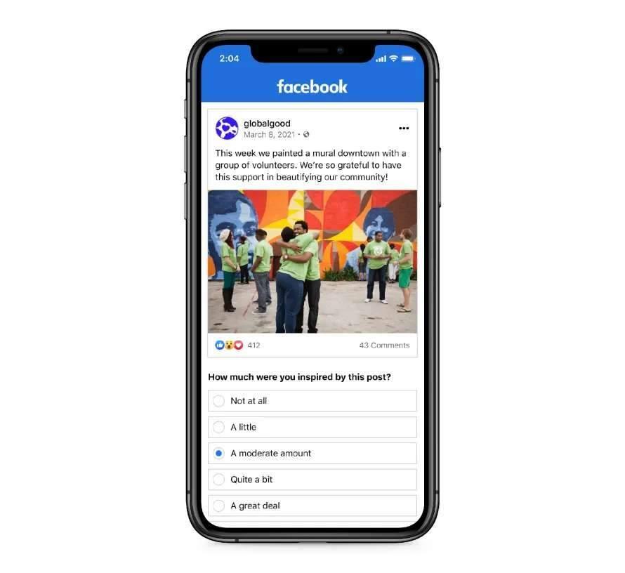 Facebook anuncia nova politica de inspiração em seu feed