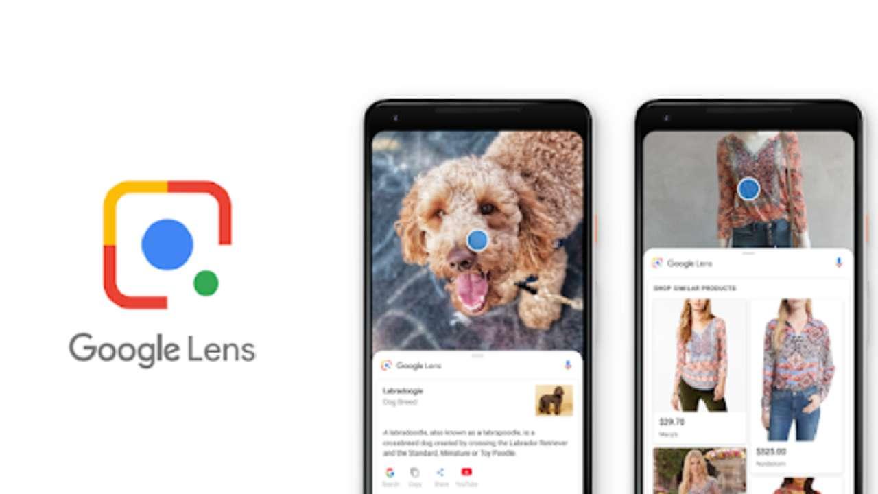 Celulares com o aplicativo Google Lens aberto