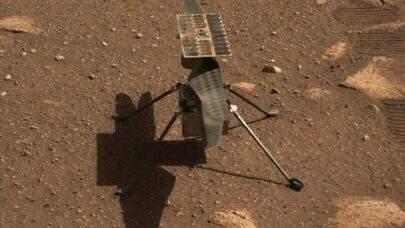 Helicóptero Ingenuity moveu suas hélices em Marte para teste do voo