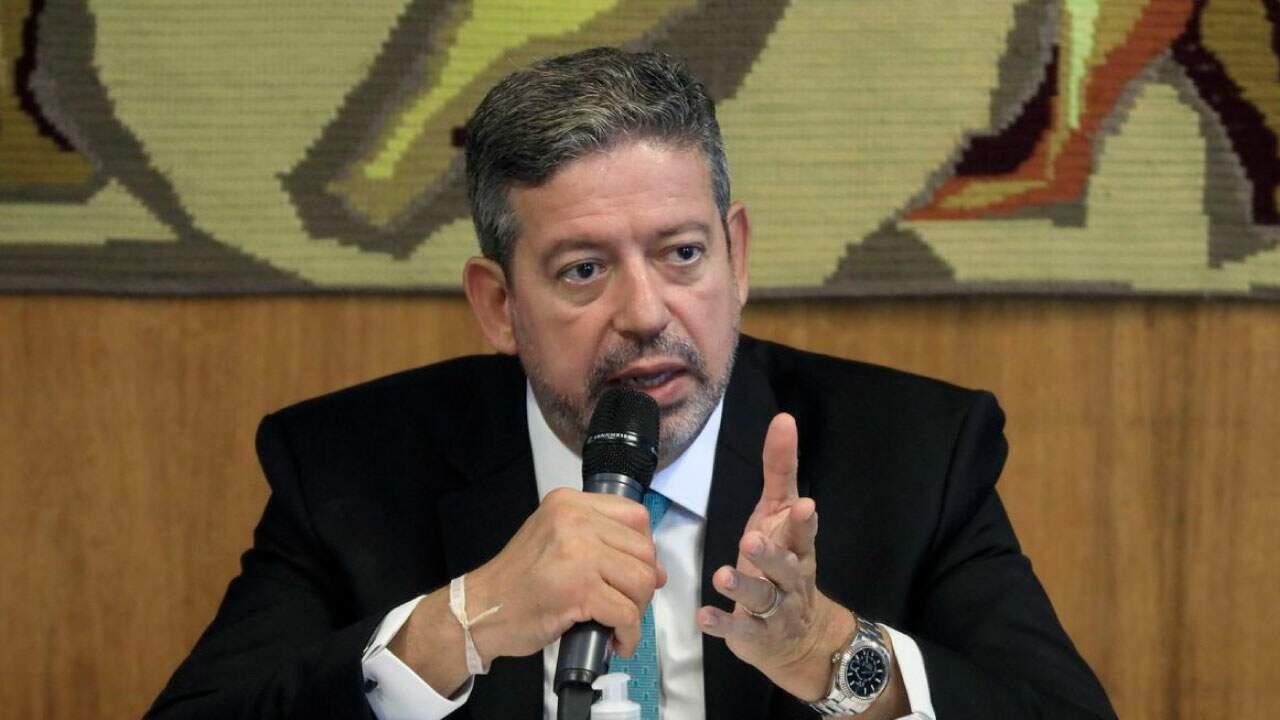 O presidente da Câmara, Arthur Lira (PP-AL) em sessão