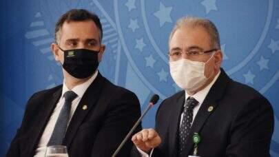 Queiroga e Rodrigo Pacheco se reúnem para discutir sobre o combate à pandemia