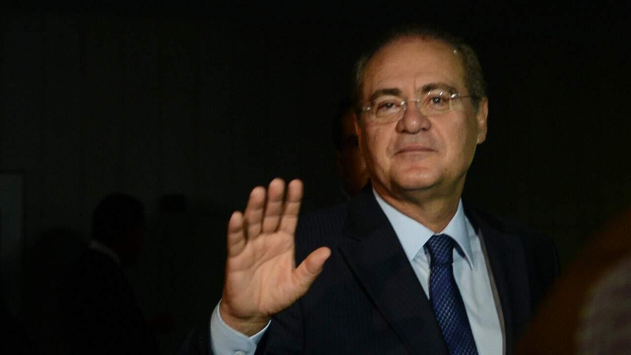 Senador Renan Calheiros em sessão
