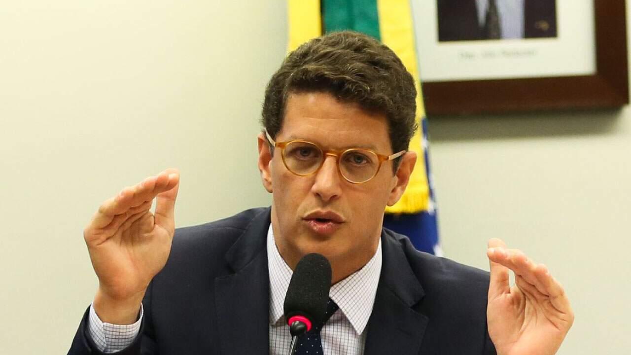 O ministro do Meio Ambiente, Ricardo Salles, em reunião