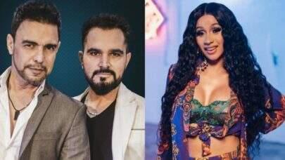 Produtores musicais criam feat. de Cardi B com Zezé Di Camargo e Luciano; confira!