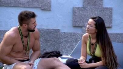 BBB21: Juliette elogia Arthur, mas confirma: 'É meu adversário no jogo'