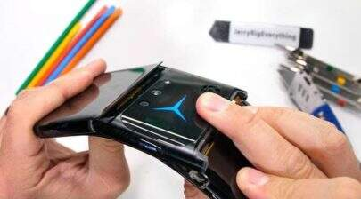 Telefone gamer da Lenovo não suporta teste de resistência e quebra fácil