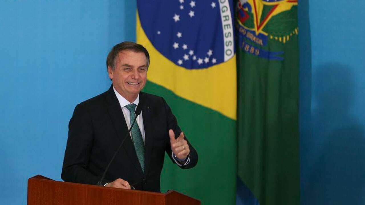 O presidente Jair Bolsonaro em pronunciamento em setembro de 2019