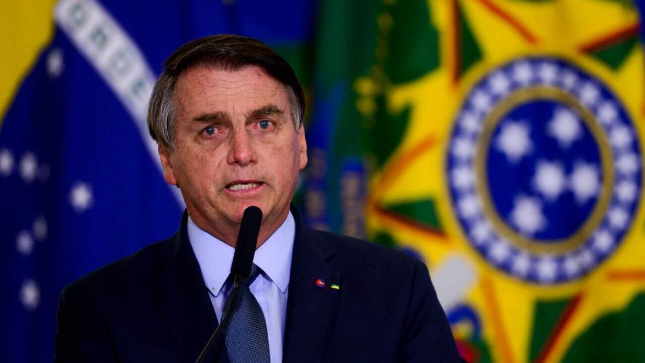 O presidente Jair Bolsonaro (sem partido) em pronunciamento