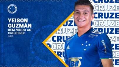 Cruzeiro anuncia contratação do colombiano Yeison Guzmán