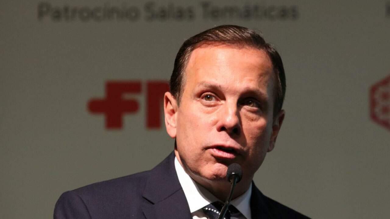 O governador de São Paulo, João Doria (PSDB-SP), em coletiva de imprensa;