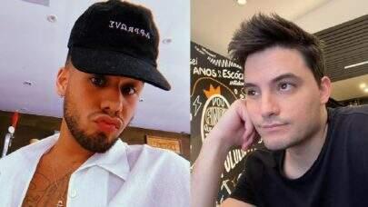 """Felipe Neto volta a trocar farpas com Zé Felipe, após discussão na web: """"Sem pedir biscoito"""""""