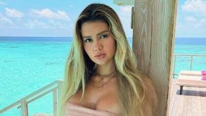 """Franciny Ehlke exibe boa forma de biquíni em clique nas Maldivas e encanta: """"Melhor forma"""""""
