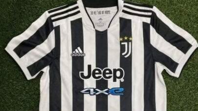Foto de suposta nova camisa da Juventus para a temporada vaza nas redes sociais