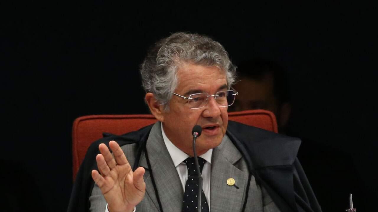 O ministro Marco Aurélio Mello, do Supremo Tribunal Federal (STF) em plenário;