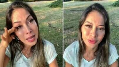 """Mayra Cardi surge em lágrimas após segundo término com Arthur Aguiar: """"Último choro"""""""