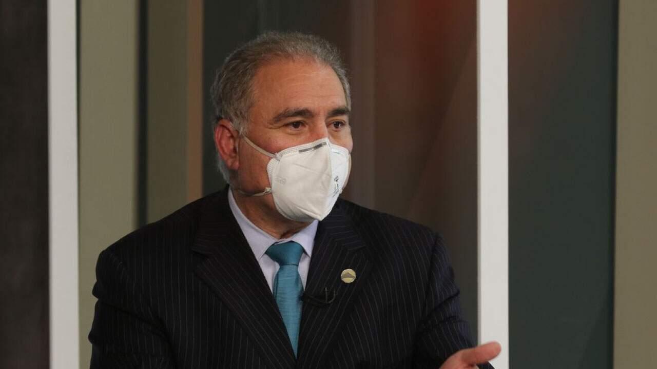 O ministro da Saúde, Marcelo Queiroga, participa de programa na TV Brasil