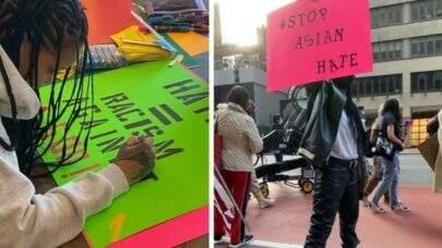Rihanna participa de protestos do movimento 'Stop Asian Hate' e não é reconhecida