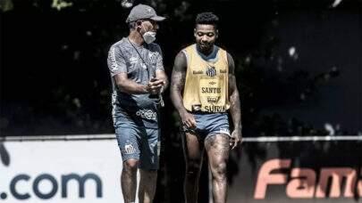 Santos pode ter retorno do trio Marinho, Kaio Jorge e Soteldo contra o San Lorenzo