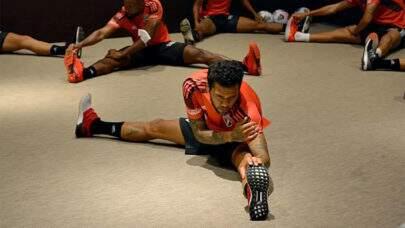 Jogadores do São Paulo fazem treino em hotel após serem impedidos de ir ao CT no Peru
