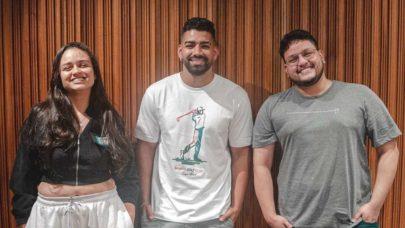 """Dilsinho posta vídeo com dupla Luiza e Maurílio e fãs vão à loucura: """"O hit vem aí"""""""