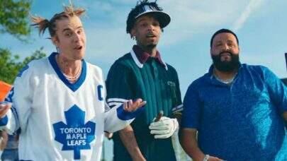 """Dj Khaled lança clipe super divertido com Justin Bieber e 21 Savage; Confira """"Let It Go""""!"""