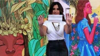 Fátima Bernardes revela emoção com colegas sem máscara nos EUA: 'Sonho'