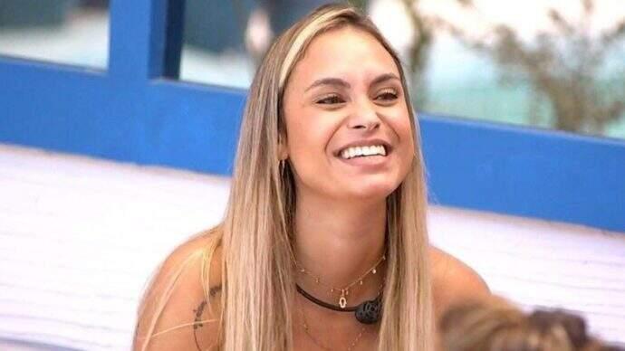 ex-BBB Sarah Andrade durante o programa;