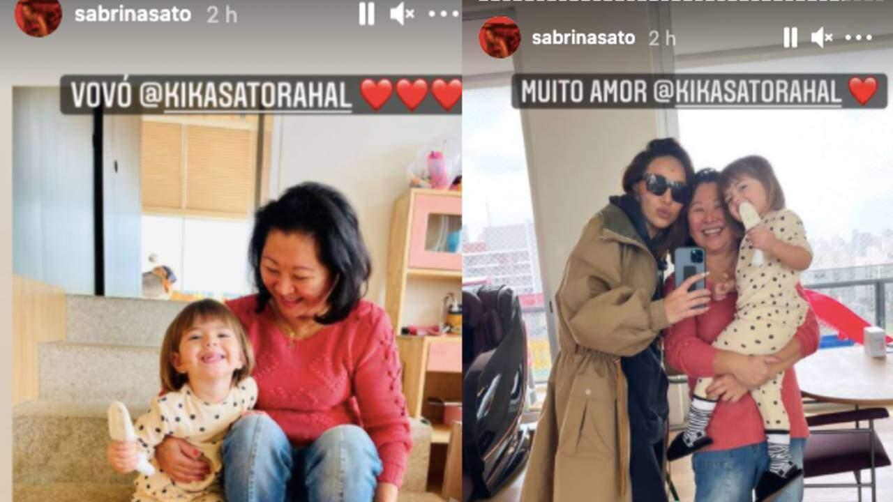 """Sabrina Sato compartilha momento com mãe e filha: """"Muito amor"""""""