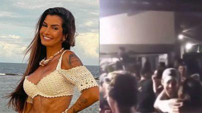 """Marina Ferrari aglomera em festa e se menifesta: """"Acabou indo mais gente do que eu esperava"""""""