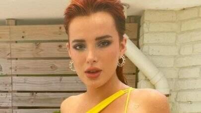 Bella Thorne aproveita dia de calor e posa de biquíni: 'Perfeita!'