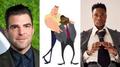 Zachary Quinto e Billy Porter dublarão casal gay em série do Disney+