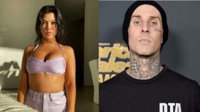 """Kourtney Kardashian faz uma tatuagem no namorado Travis Barker: """"Eu te amo"""""""