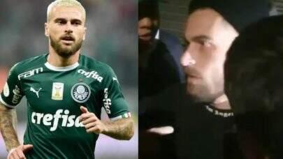 """Após ser flagrado em festa clandestina, jogador Lucas Lima é xingado por torcedores: """"Você vai sair do Palmeiras"""""""