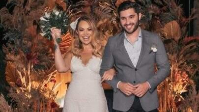 Solange Almeida divulga imagens do seu casamento com o empresário Monilton Moura; veja!