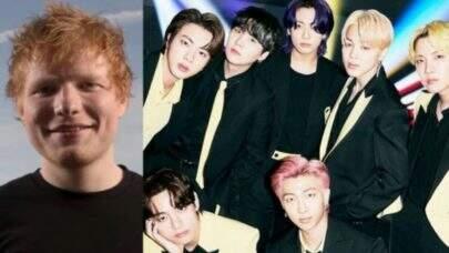 BTS confirma colaboração de Ed Sheeran em nova música; saiba detalhes da faixa