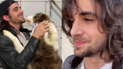"""Após deixar em abrigo, Fiuk busca cães e comemora: """"Dia muito especial"""""""
