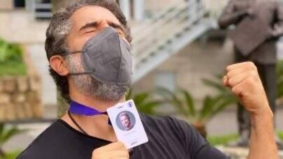 """Marcos Mion comemora primeira gravação do novo 'Caldeirão': """"Estou vigorando!"""""""