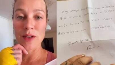 """Luana Piovani recebe carta com reclamação inesperada de vizinho e dispara: """"Não me surpreende"""""""